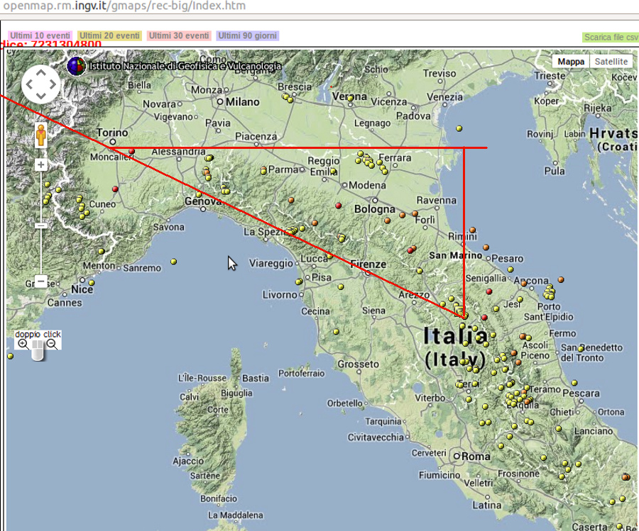 Line Of Sight Map Italy To France Specific Psychic Targets